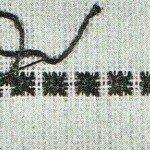 Виды швов: двойной крестик.