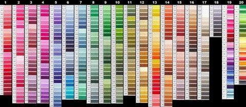 Для чего нужна карта цветов dmc?