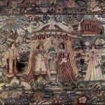 Детали на вышивке XVII века.