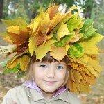 Плетение листьев нитками мулине.