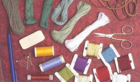 Материалы для вышивания.