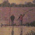 """Вышивка """"На рыбалке"""". Часть вторая."""