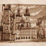 Злата Прага. Вышивка крестом.