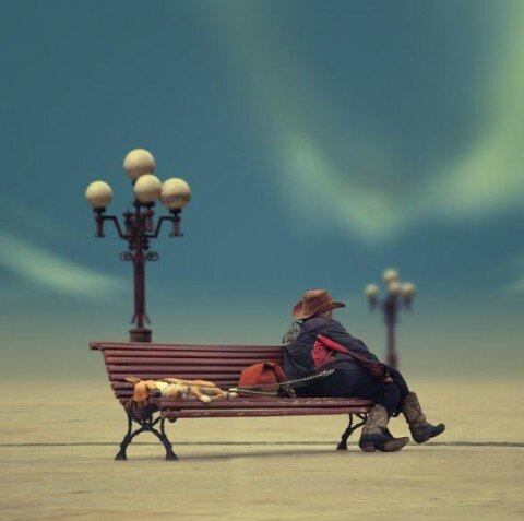 Любимая скамейка.
